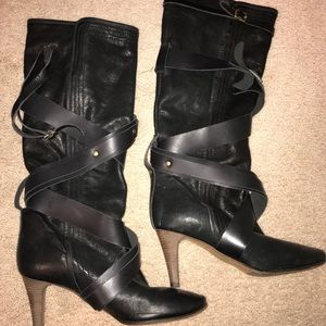 Tall Chloé Leather Boots With straps